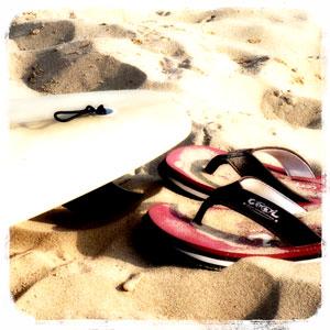 Surf et tongs
