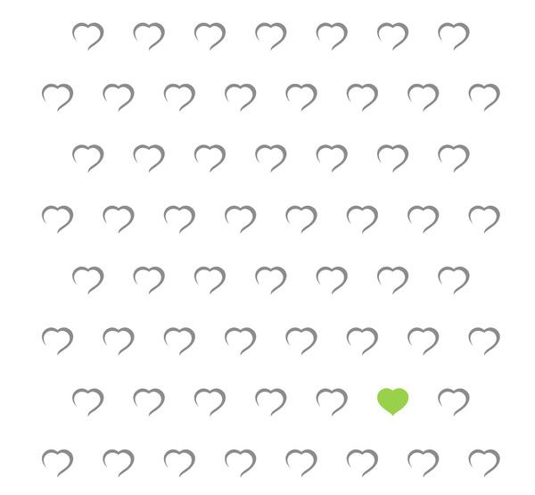 Cœurs - Vert