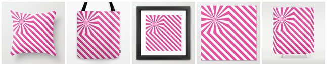 Explosion de rayures - Rose - Society6