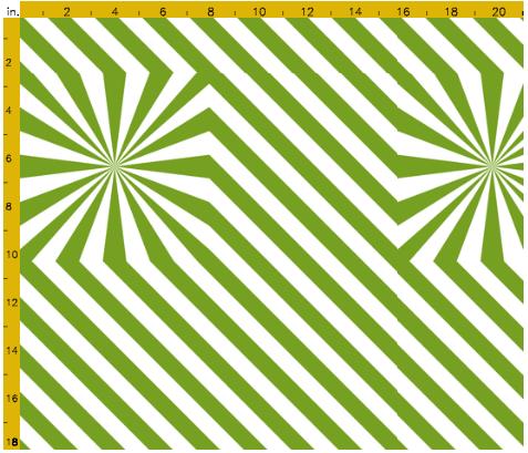 Explosion de rayures - Vert - Spoonflower